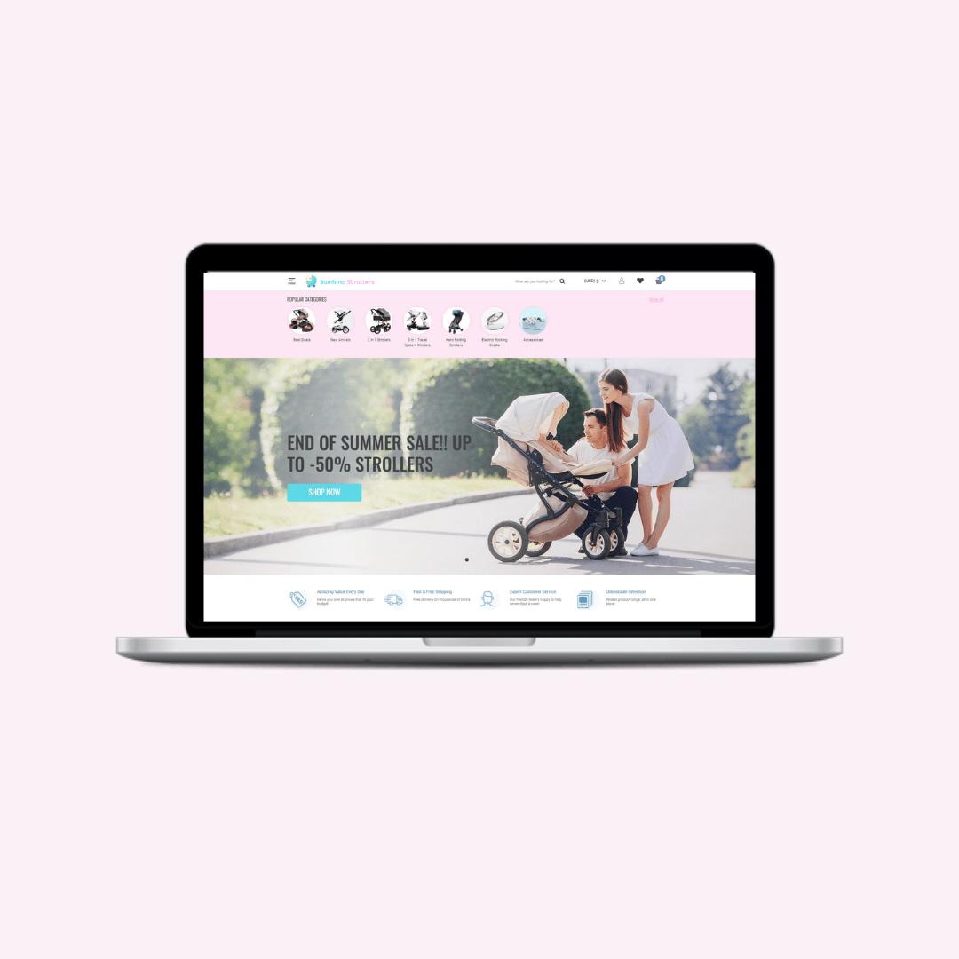 Kansainvälinen lastentarvike verkkokauppa